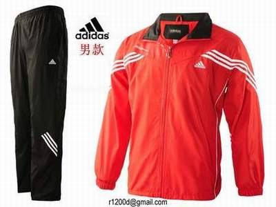 survetement Adidas Rouge Homme Molleton Survetement 345ARqjL
